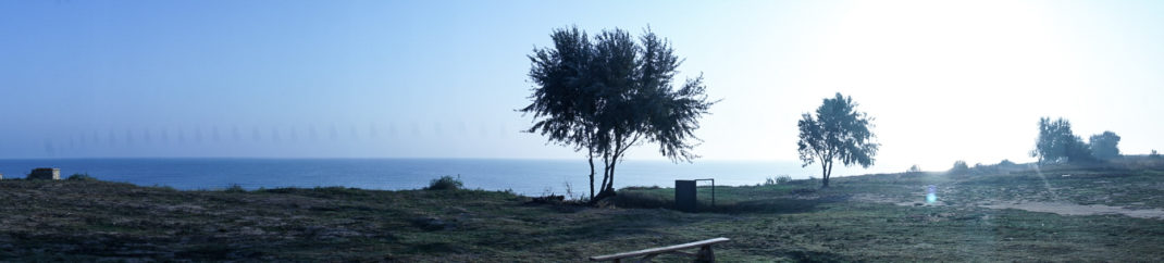 вид на Азовское море в Кучугурах